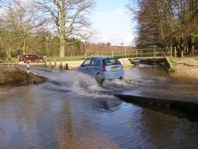Fording Dockens Water, Moyles Court, New Forest