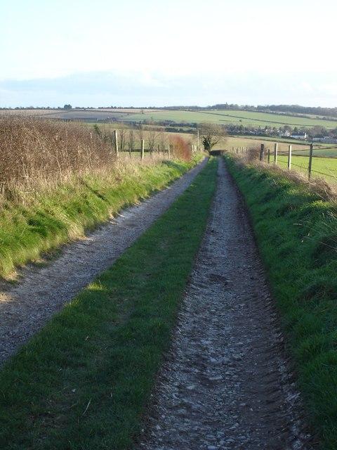 Track beside Pimperne Down