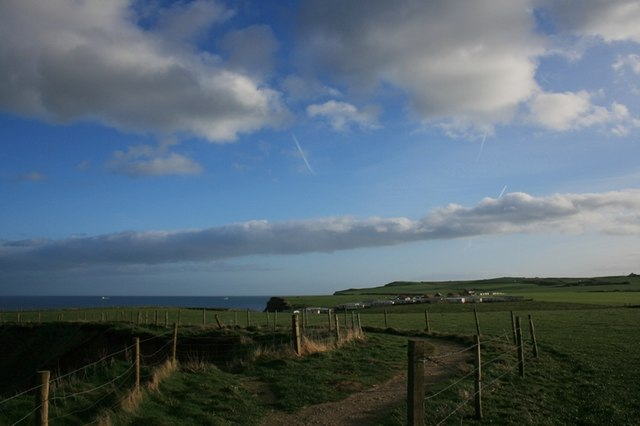 Public Footpath, View Over Saltwick