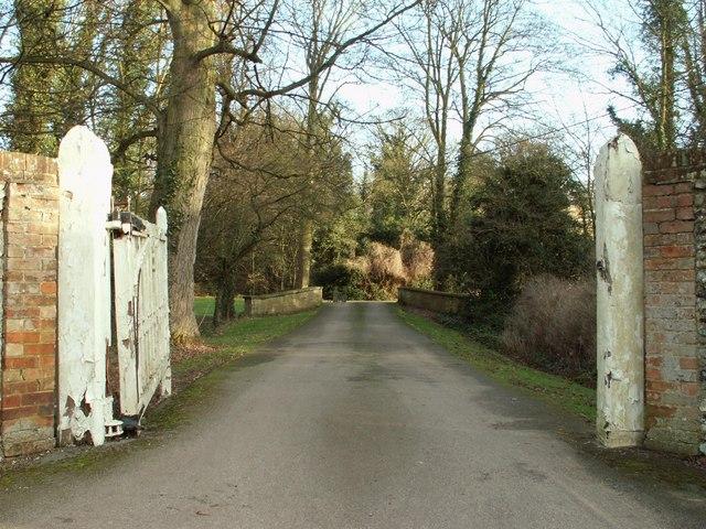 Driveway to Horseheath Lodge