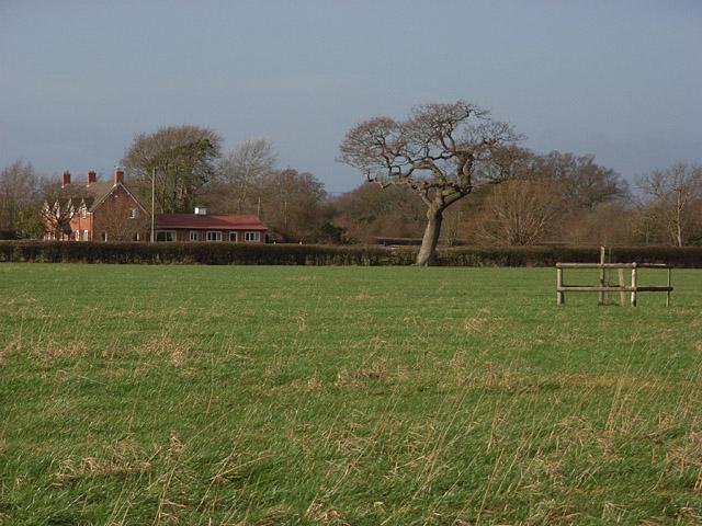 Fields and cottage near Cross Bargain Farm