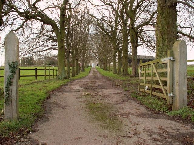 The driveway to Hunts Park Farm