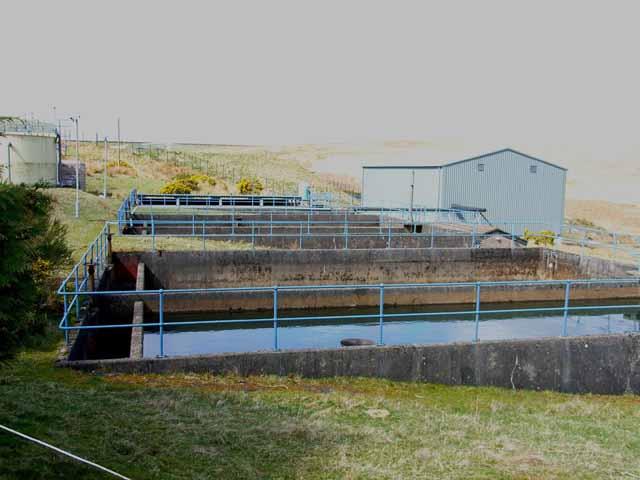 Wash water holding tanks at Penwhirn