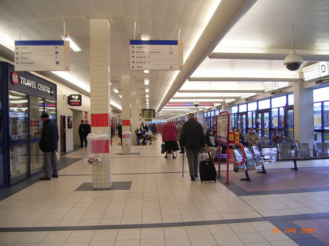 Huddersfield Bus Station.