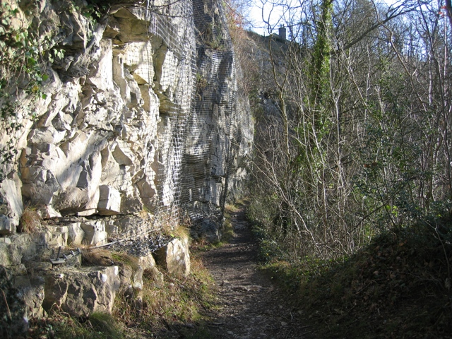 Rock Face on the Leete Path