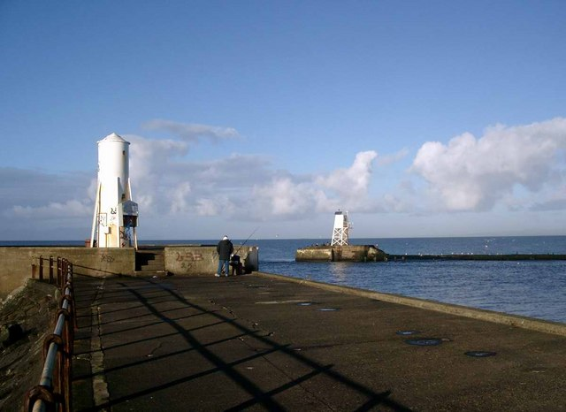 The entrance to Ayr Harbour