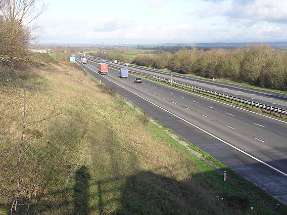 North bound M5 near North Newton