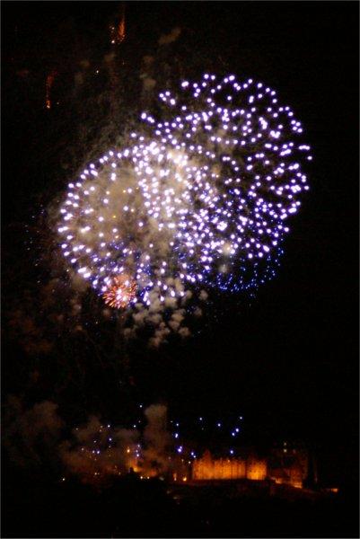 New Year Fireworks over Edinburgh Castle
