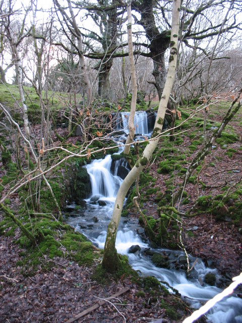 Waterfall on Afon Rhonwy
