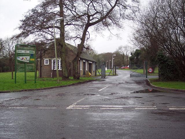 Entrance to Dinton Business Park
