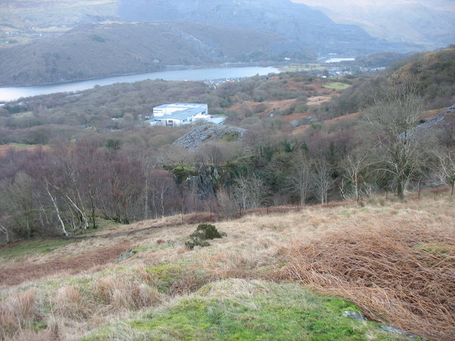 The main pit of the Ffridd Glyn Quarry