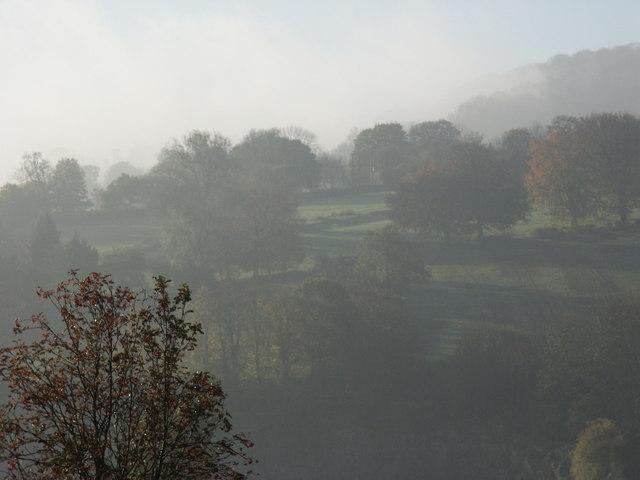 Autumn view of Bonsall Moor