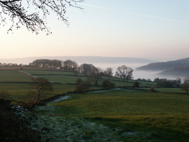 Autumn view towards Two Dales