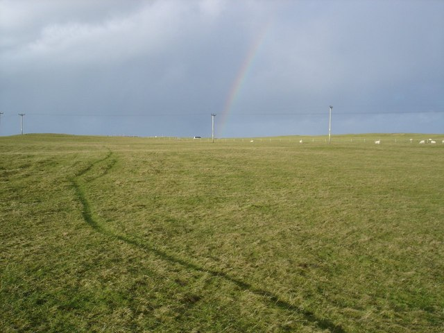 Track across the machair
