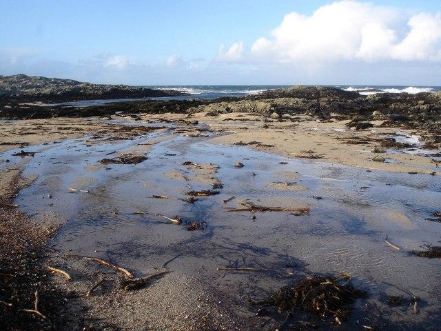 Small beach near Am Beannan Ruadh