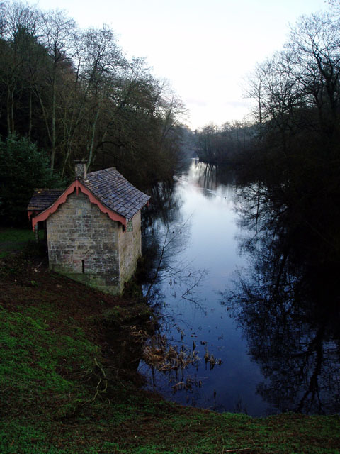 Boathouse on the Middle Pond, Woodchester Park