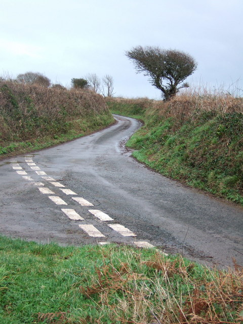 Lane junction near Chillington