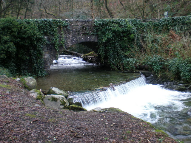 River Gwynant at Abergwynant Lodge.