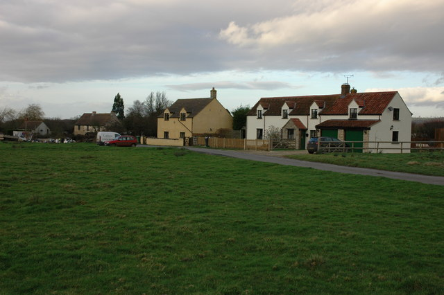 Cottages on Inglestone Common, near Hillesley