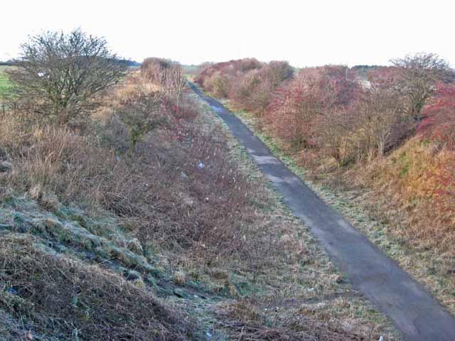 W2W cycle route, Moorsley Road, Hetton-le-Hole