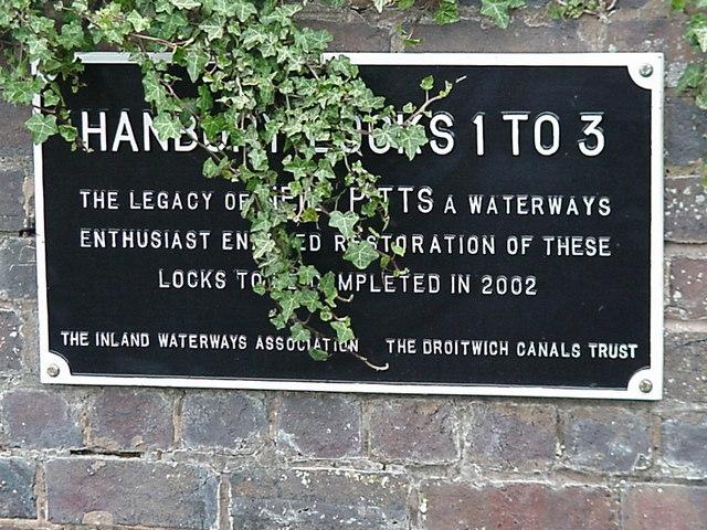 Droitwich Canal restoration plaque