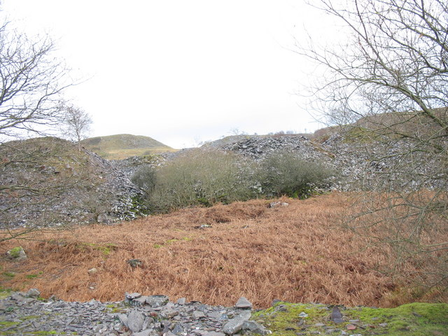 The rubbish runs of Ffridd Glyn Quarry