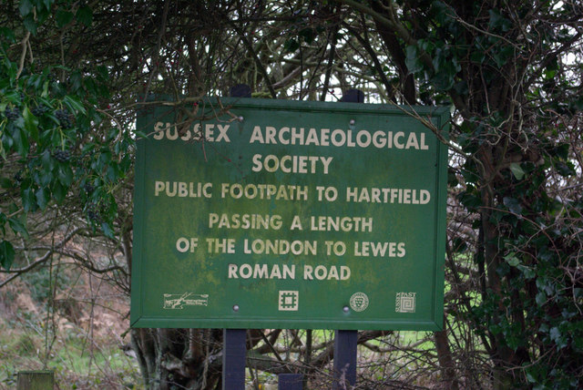Roman Road sign on A264