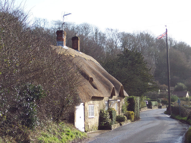 Thatched Cottage and Maypole