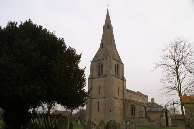 Etton Church on a dull December day