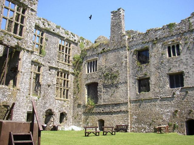 Internal view of Carew castle