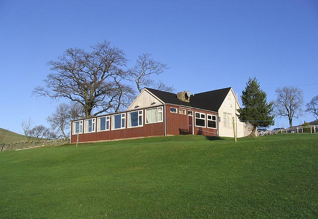 The clubhouse at Galashiels Golf Course