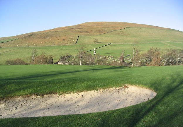The 1st green at Galashiels Golf Course