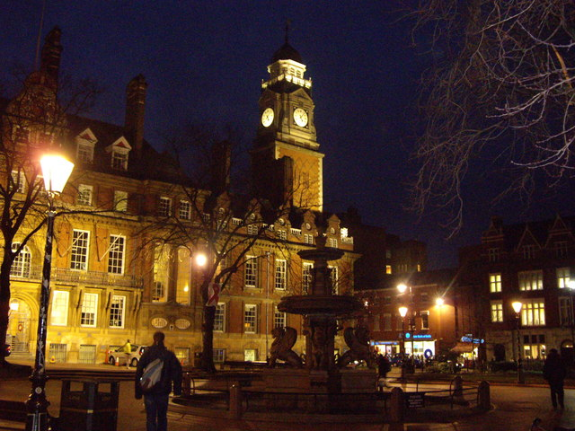 Leicester Town Hall By Night