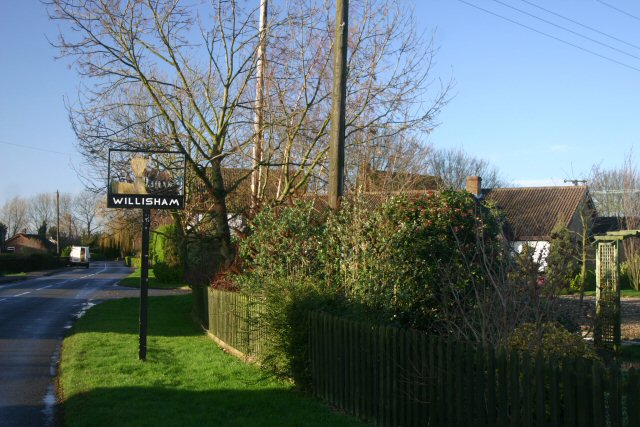 Willisham and its village sign