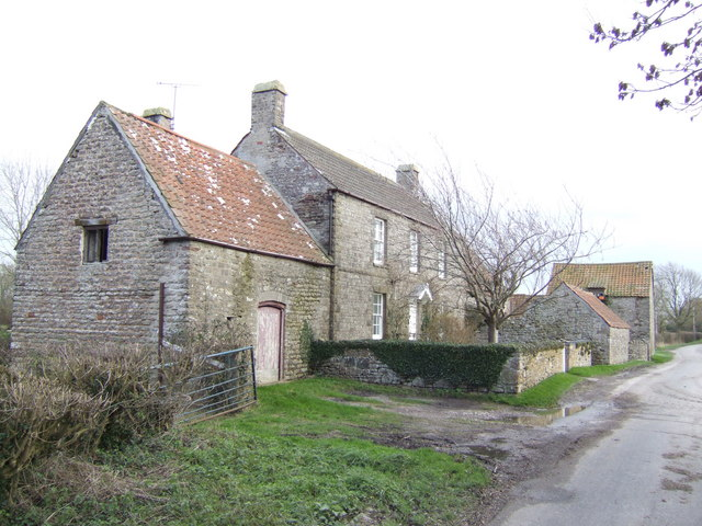 Old stone-built farmhouse at Shepperdine.