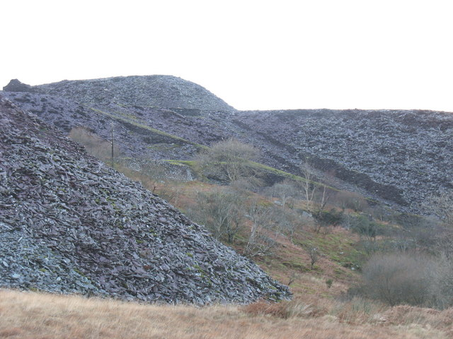 The 2nd pitch of the Ffridd Incline from Ffridd Glyn Quarry