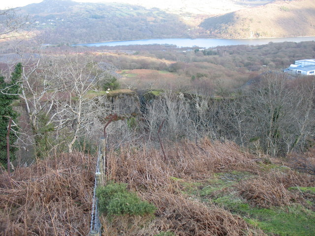 A view from the top end of Ffridd Glyn's upper pit