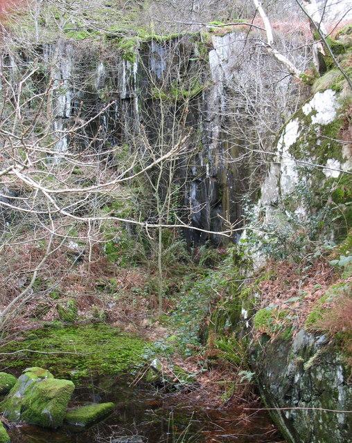 The Cloddfa Isa' pit