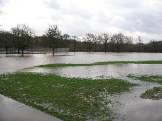 Flooded Nuttall Park Ramsbottom