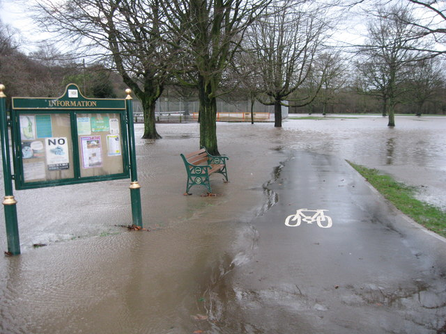 Flooded Nuttall Park Ramsbottom