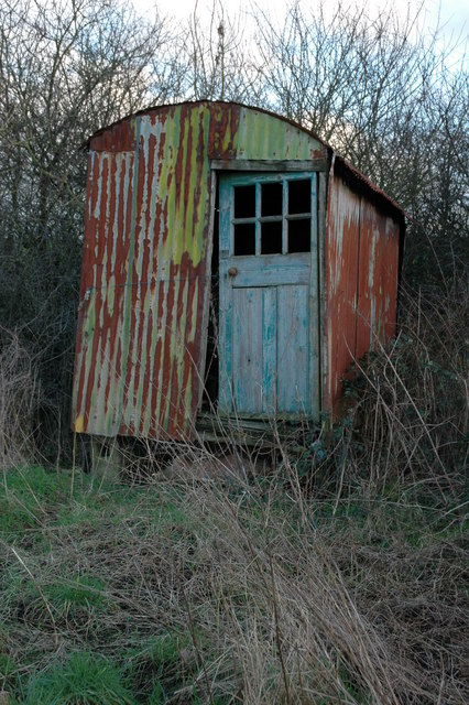 Old shed on Day House Road, Hillesley
