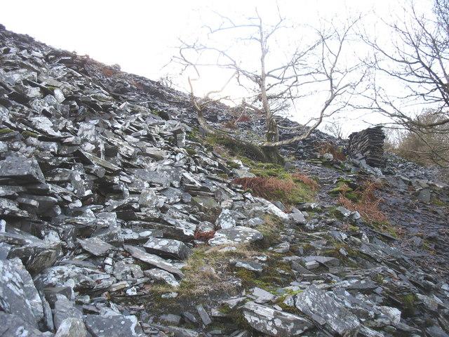 Quarrymen's footpath to Caermeinciau Quarry