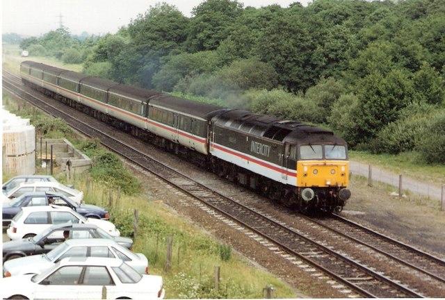 Southbound passenger train 1992