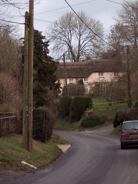 Village Road in Bowerchalke