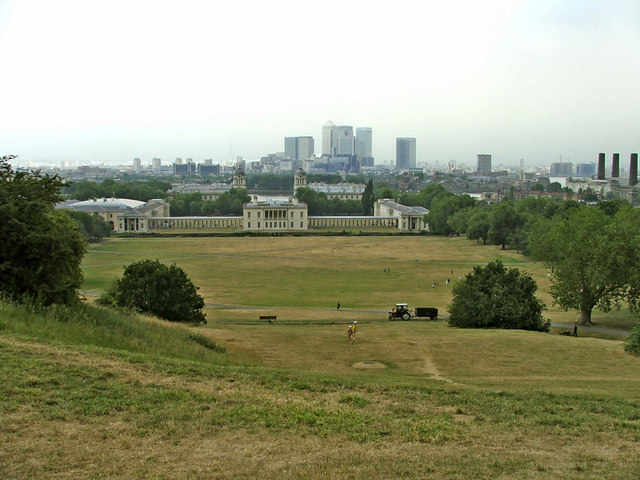 Greenwich Park looking towards Royal Naval College
