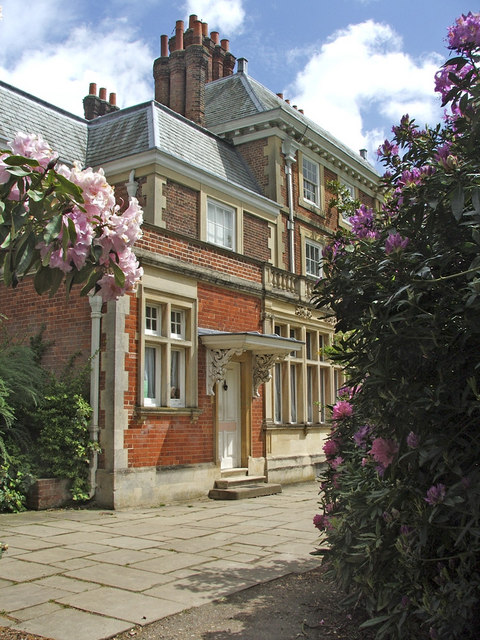 South Door of Forty Hall, with Rhododendrons, Enfield