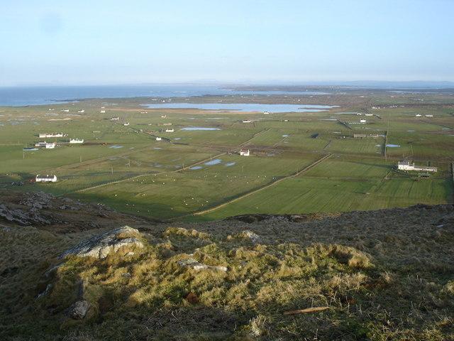View over Loch Bhasapoll from Beinn Hough