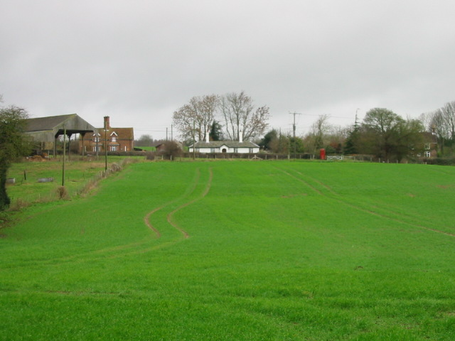 View across fields to Frogham