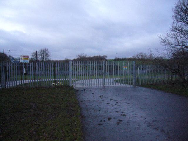 Entrance gates to sewage treatment works