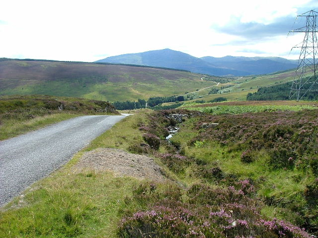 Moorland and Road above Trinafour